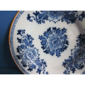 a pair of 18th century Delft earthenware plates