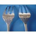a pair of antique Dutch silver meat forks
