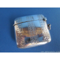 an antique sterling silver vesta case