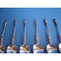 a set of six 20th century Dutch silver tea spoons