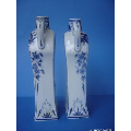 a set of small Dutch Delft style vases