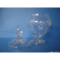 a 20th century crystal punch bowl