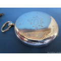 an antique silver mens pocket watch