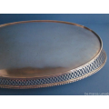 Dutch silver boat-shaped serving tray