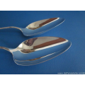 a pair of Dutch silver vegetable serving spoons