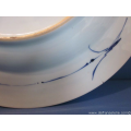 an 18th century Chinese blue and white porcelain charger