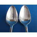 a pair of antique Dutch silver spoons J. van de Broek