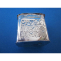 an antique Dutch silver engraved snuff box