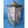 an art deco glass hanging lamp