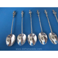 a set of eight Dutch silver teaspoons