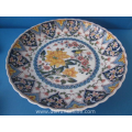 a hand painted polychrome earthenware Makkum plate