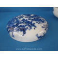 an antique Chinese blue and white porcelain box