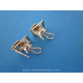 a pair of vintage yellow and white gold earrings