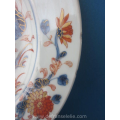 a pair of 18th century Chinese imari porcelain plates