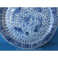 an antique Chinese blue and white porcelain charger