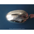 an antique Dutch silver birth spoon
