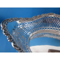an antique Dutch silver bread basket