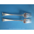 a pair of Dutch silver meat forks