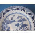 antique blue and white Chinese porcelain plate