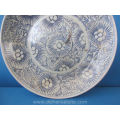 an antique Chinese blue and white porcelain plate Diana Cargo