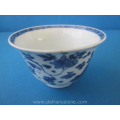 an antique Chinese blue and white porcelain cup Kangxi