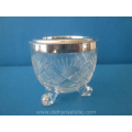 an antique cut crystal silver mounted beaker