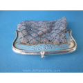 an antique Dutch silver purse with silver chain Wendels J.