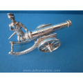 an antique Dutch silver miniature of a canon