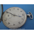an antique Suisse silver niello mens pocket watch