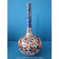 an antique Japanese imari porcelain longneck vase