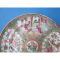 an antique Chinese famille rose porcelain plate