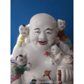 a vintage Chinese famille rose porcelain buddha
