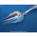an antique Dutch silver engraved meat fork