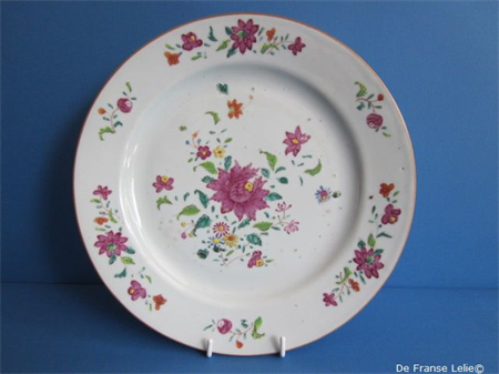 an 18th century Chinese famille rose porcelain plate