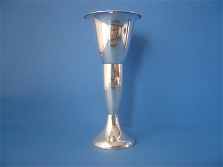 a vintage Dutch silver rose vase