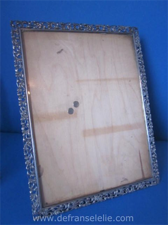 a fine large Dutch silver picture frame