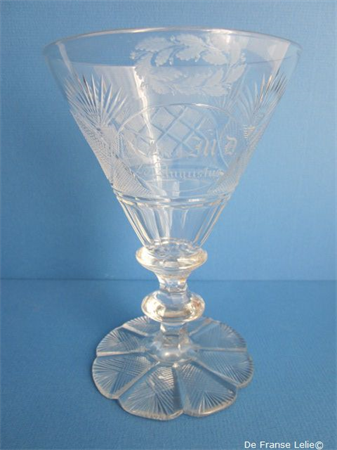 a fine early 19th century German crystal rummer