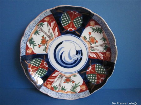 a late 19th century Japanese porcelain plate