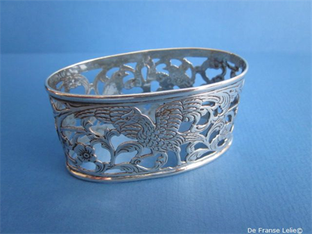 an antique Dutch silver napkin ring