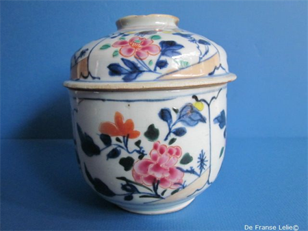 an 18th century Chinese famille rose porcelain jar and cover
