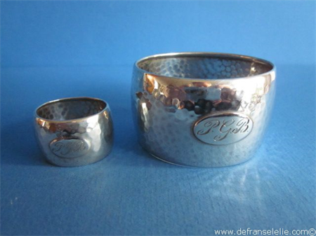 a Dutch silver napkin ring