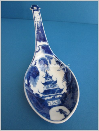 antique Chinese blue and white porcelain spoon