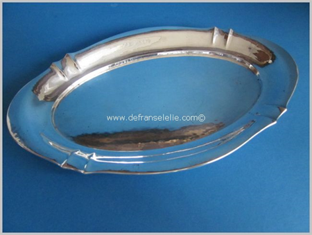 a small German silver art deco serving tray