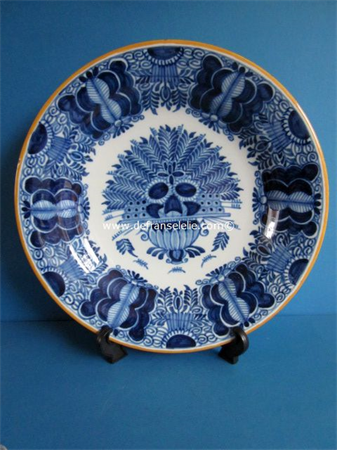 a Delft earthenware charger