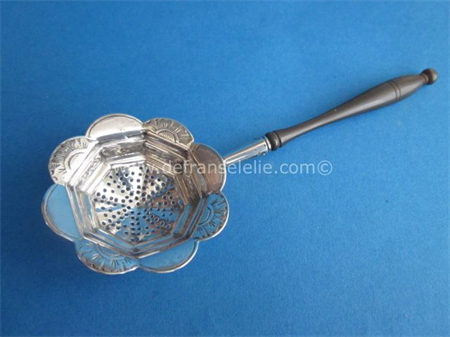an antique Dutch silver sugar sifter spoon