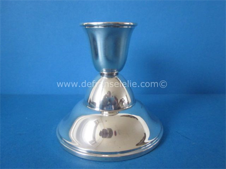 a small Dutch vintage silver candlestick