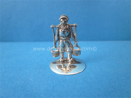 a vintage Dutch silver miniature water carrier