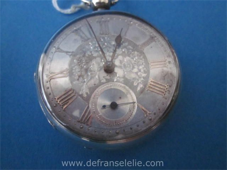 an antique sterling silver men's pocket watch
