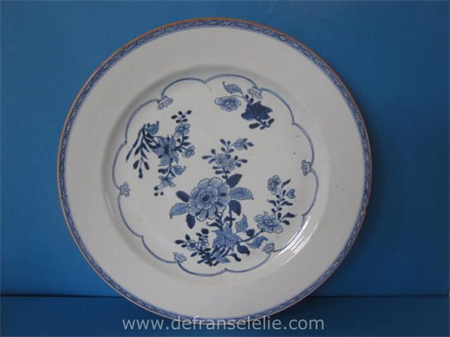 an antique Chinese blue and white porcelain charge