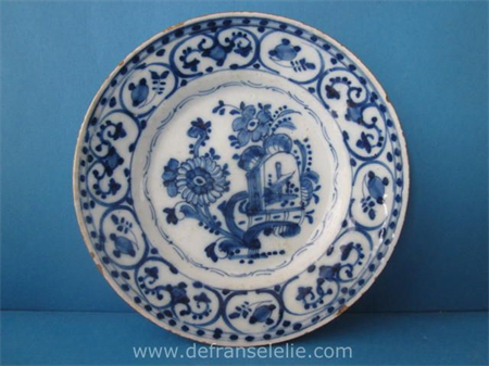 an 18th century Dutch Delft earthenware plate